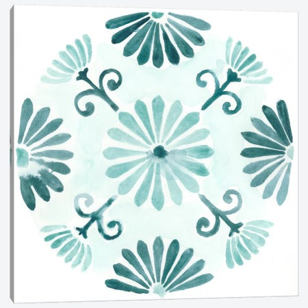 Aqua Medallions I 3-Piece Canvas #JEV69} by June Erica Vess Canvas Wall Art