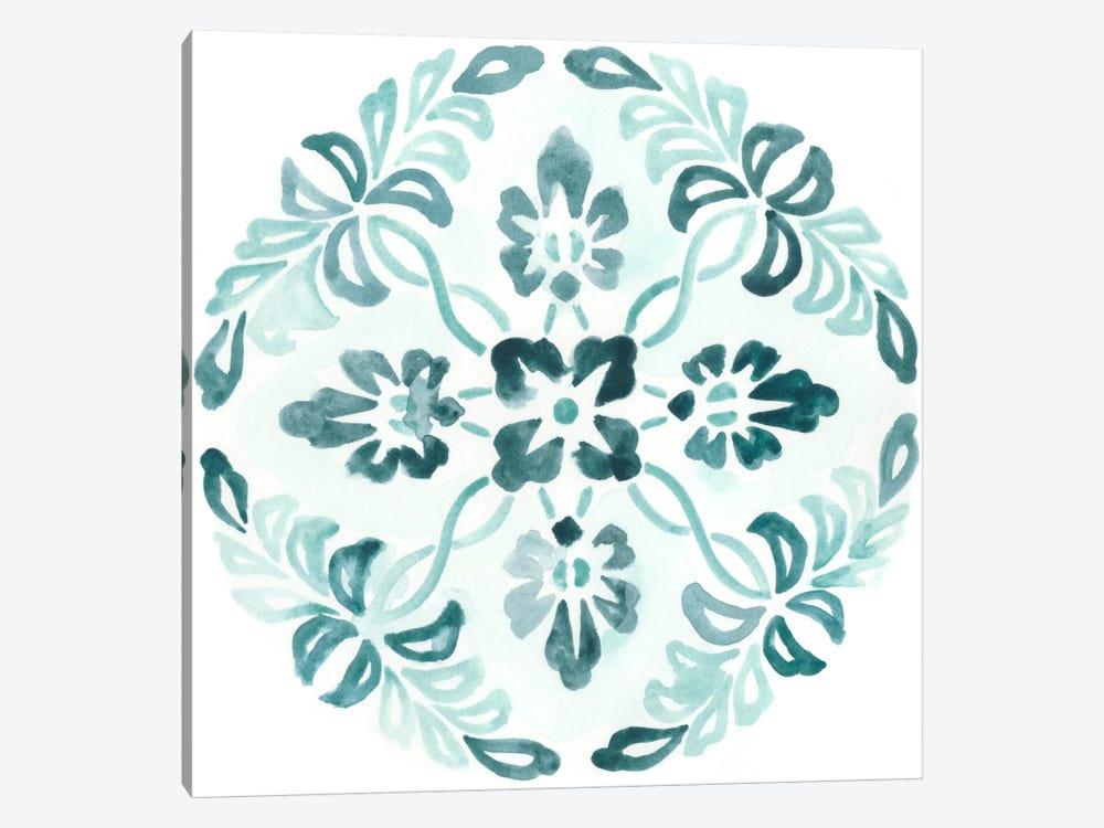 Aqua Medallions II by June Erica Vess 1-piece Art Print