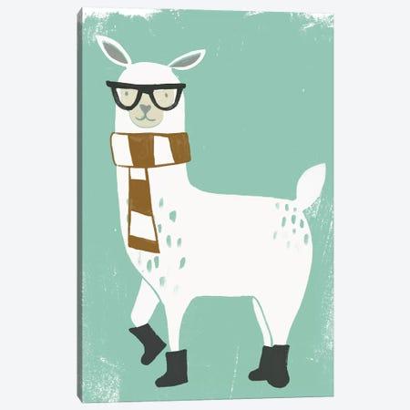 Bundle Up Llama II Canvas Print #JEV714} by June Erica Vess Art Print