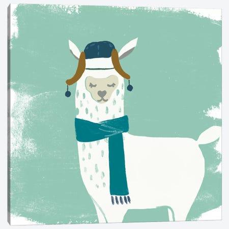 Bundle Up Llama III Canvas Print #JEV715} by June Erica Vess Canvas Print