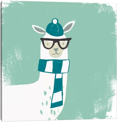 Bundle Up Llama V Canvas Art Print