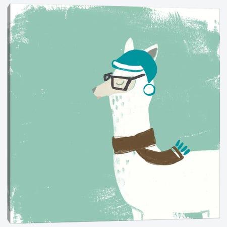 Bundle Up Llama VI Canvas Print #JEV718} by June Erica Vess Canvas Wall Art