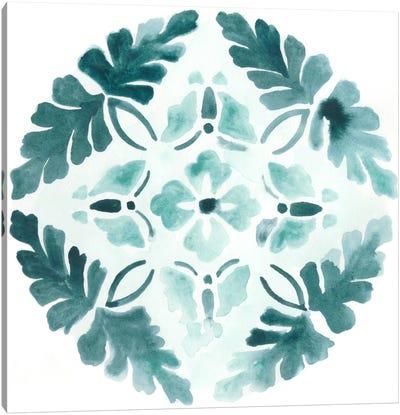 Aqua Medallions III Canvas Print #JEV71