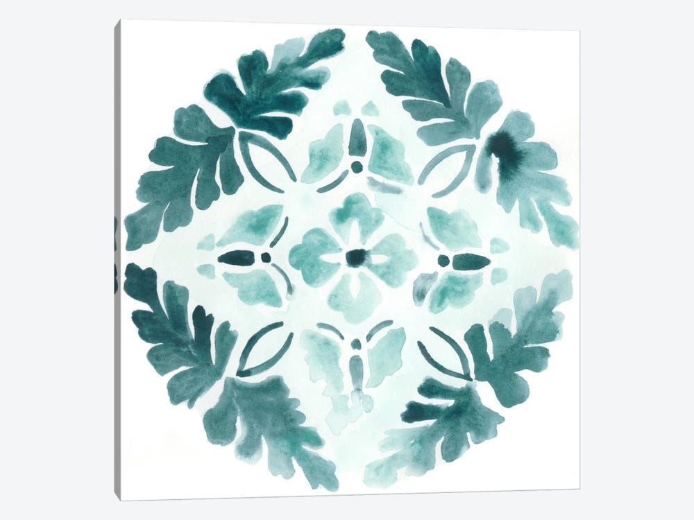 Aqua Medallions III by June Erica Vess 1-piece Canvas Wall Art