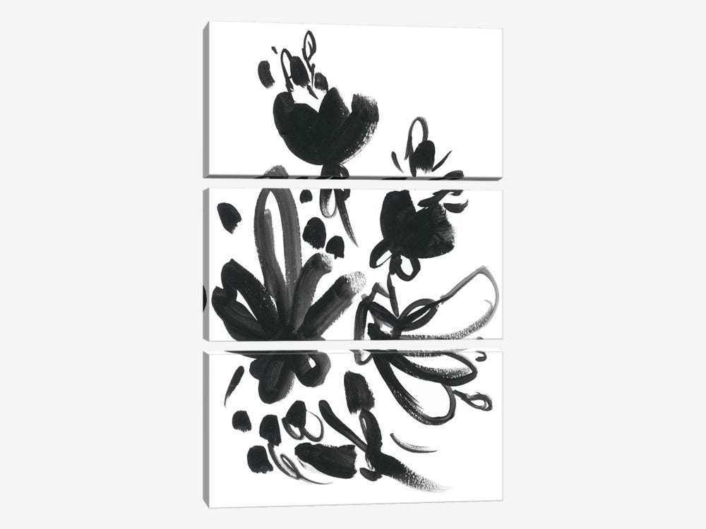 Cameo Bloom II by June Erica Vess 3-piece Canvas Print