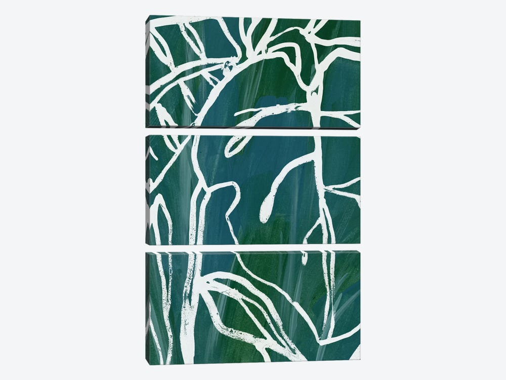 Jungle Batik II by June Erica Vess 3-piece Canvas Art Print