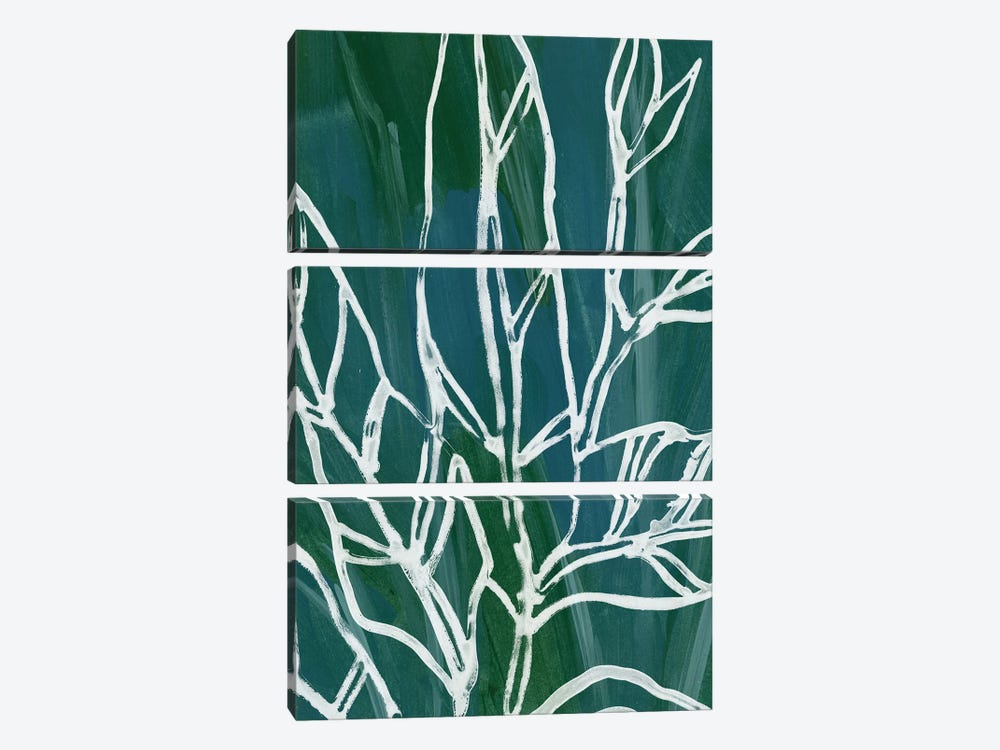 Jungle Batik IV by June Erica Vess 3-piece Canvas Art Print
