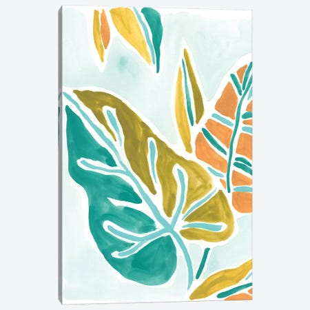 Jungle Expression I Canvas Print #JEV745} by June Erica Vess Canvas Wall Art