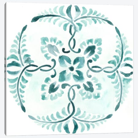 Aqua Medallions VI Canvas Print #JEV74} by June Erica Vess Canvas Wall Art