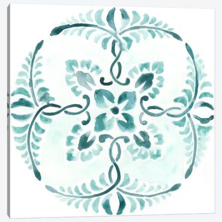 Aqua Medallions VI Canvas Print #JEV74} by June Erica Vess Canvas Wall Art