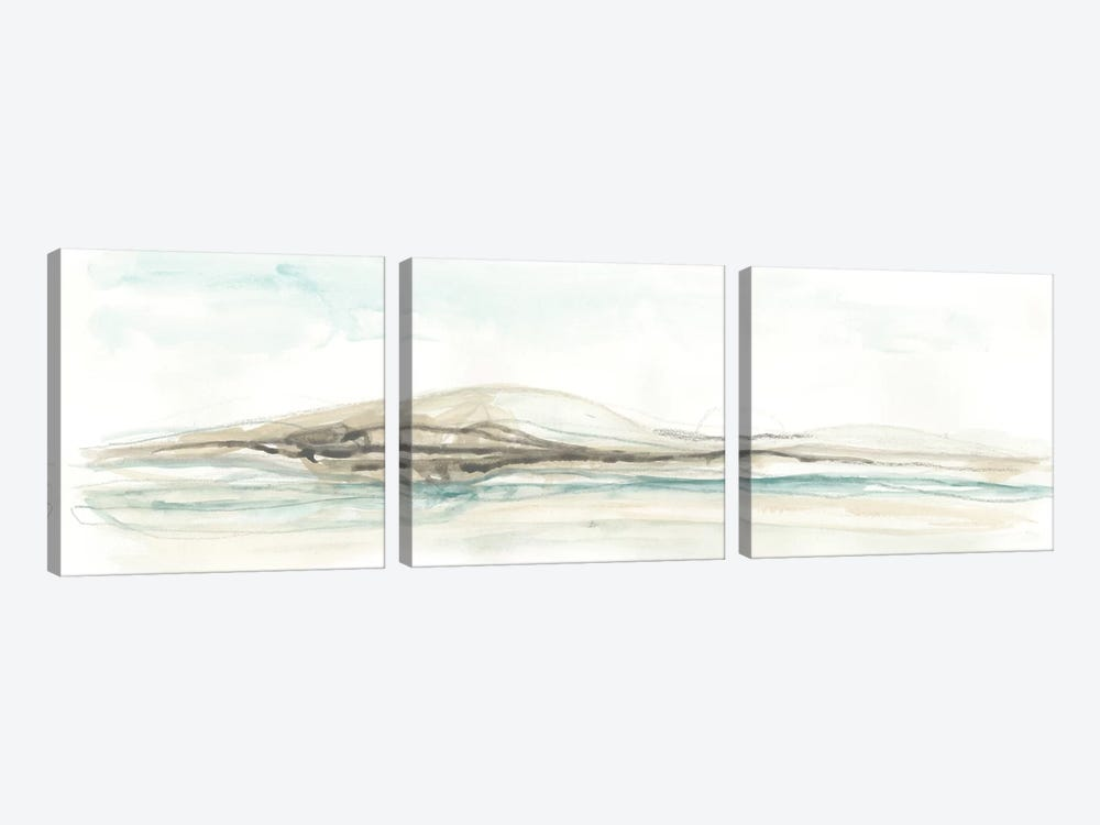 Liquid Hillscape I by June Erica Vess 3-piece Canvas Art Print