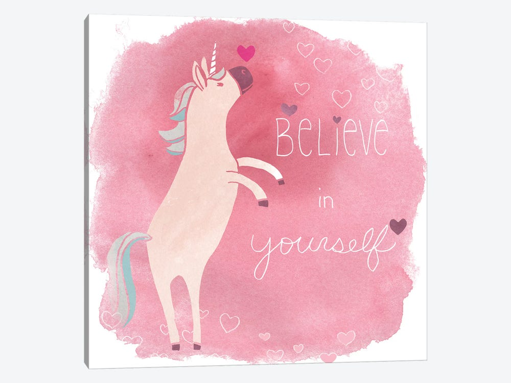 Magic Unicorn Squad I by June Erica Vess 1-piece Canvas Art Print