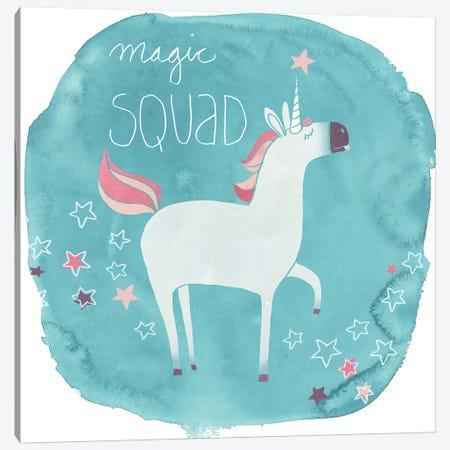 Magic Unicorn Squad III Canvas Print #JEV761} by June Erica Vess Canvas Art Print