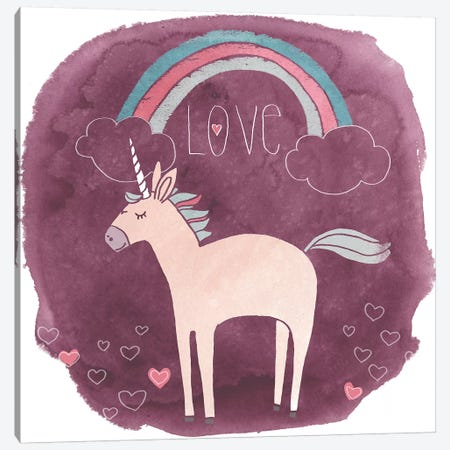 Magic Unicorn Squad IV Canvas Print #JEV762} by June Erica Vess Canvas Art Print