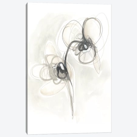 Neutral Floral Gesture I Canvas Print #JEV778} by June Erica Vess Canvas Wall Art