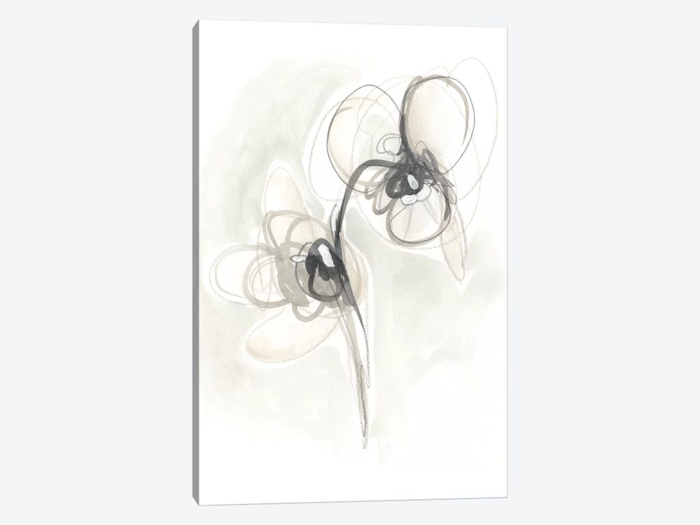 Neutral Floral Gesture I by June Erica Vess 1-piece Canvas Artwork