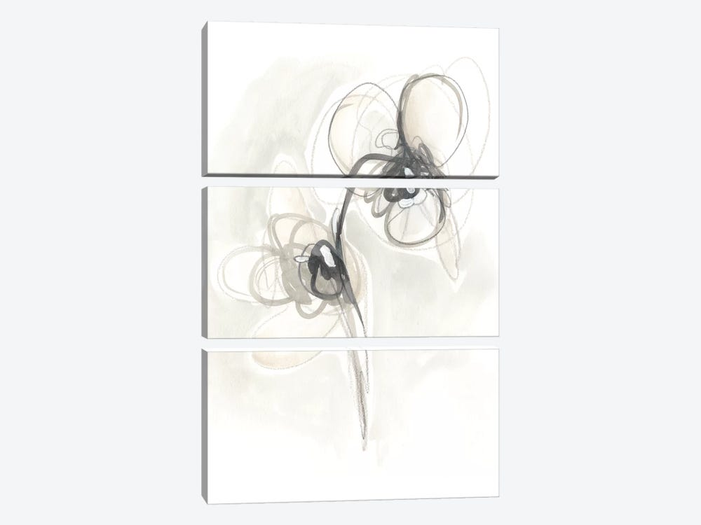 Neutral Floral Gesture I by June Erica Vess 3-piece Canvas Art