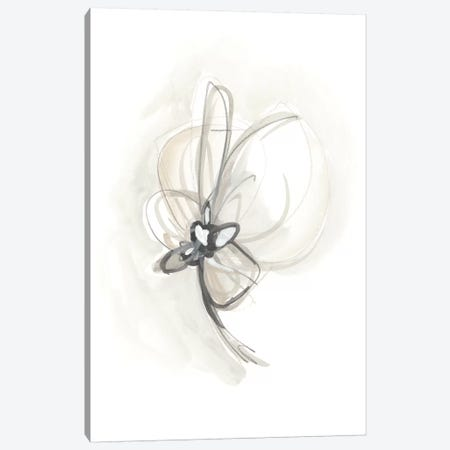 Neutral Floral Gesture II Canvas Print #JEV779} by June Erica Vess Canvas Wall Art