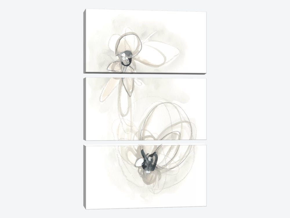 Neutral Floral Gesture III by June Erica Vess 3-piece Art Print