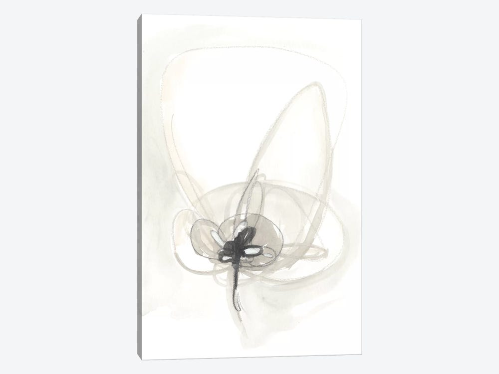 Neutral Floral Gesture IV by June Erica Vess 1-piece Canvas Artwork