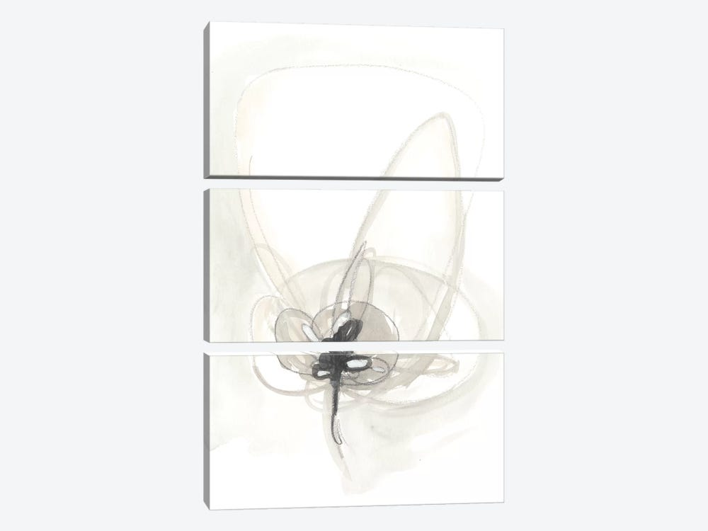 Neutral Floral Gesture IV by June Erica Vess 3-piece Canvas Artwork