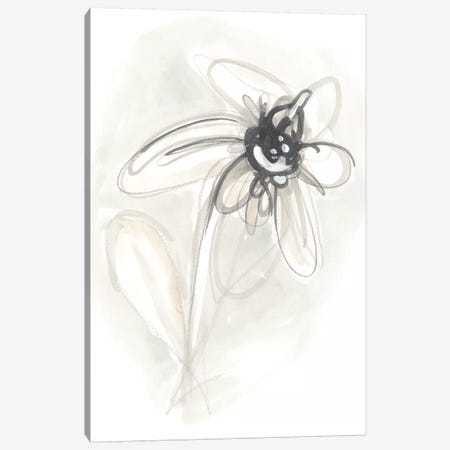 Neutral Floral Gesture V Canvas Print #JEV783} by June Erica Vess Canvas Print