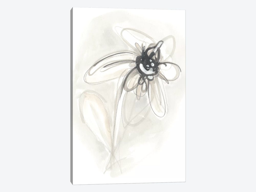Neutral Floral Gesture V by June Erica Vess 1-piece Canvas Art