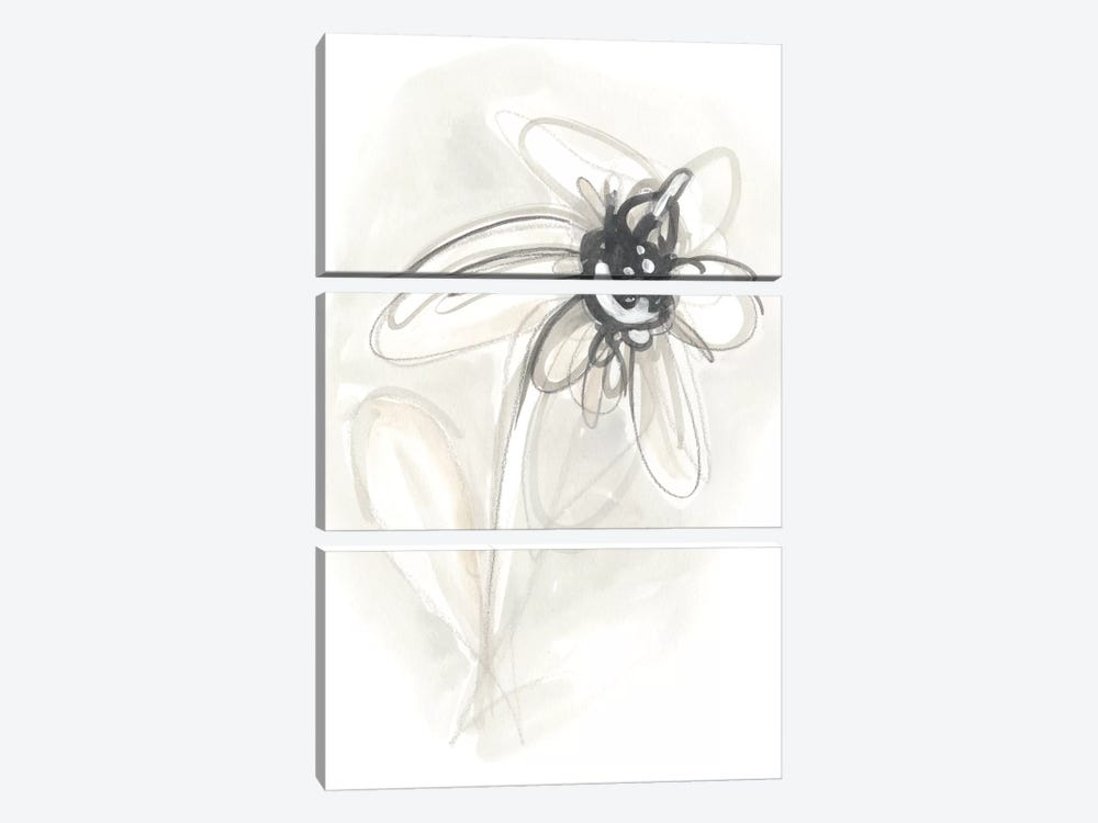 Neutral Floral Gesture V by June Erica Vess 3-piece Canvas Art
