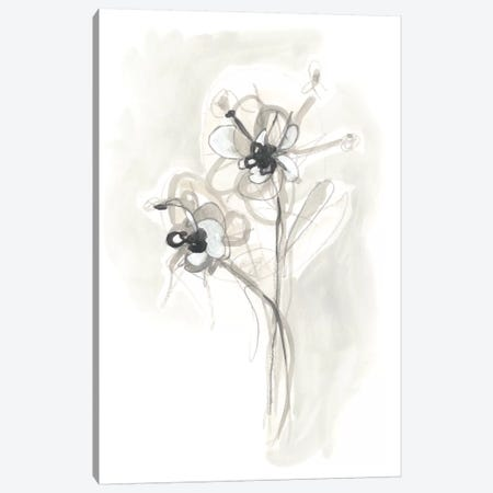 Neutral Floral Gesture VII Canvas Print #JEV785} by June Erica Vess Canvas Artwork