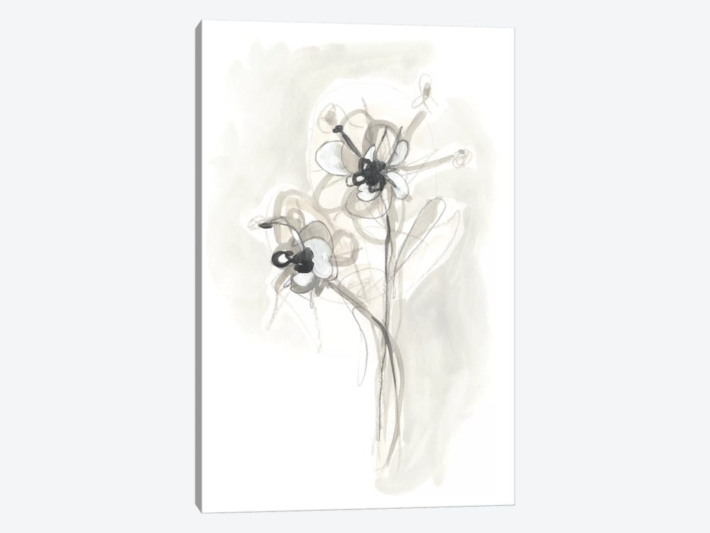Neutral Floral Gesture VII by June Erica Vess 1-piece Canvas Wall Art