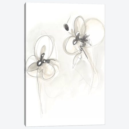 Neutral Floral Gesture VIII Canvas Print #JEV786} by June Erica Vess Canvas Art