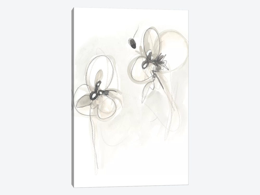 Neutral Floral Gesture VIII by June Erica Vess 1-piece Canvas Print
