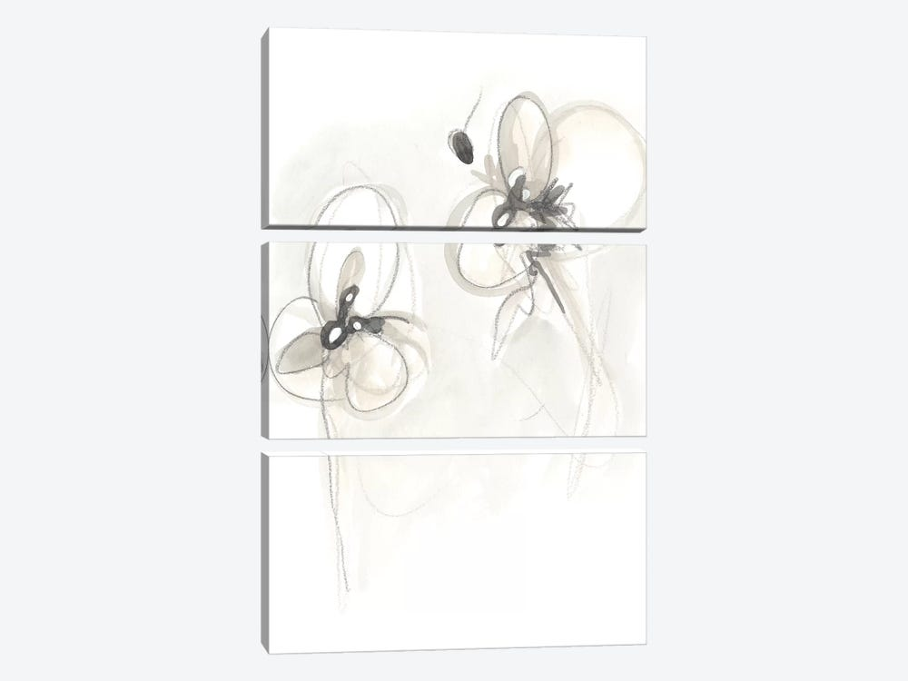 Neutral Floral Gesture VIII by June Erica Vess 3-piece Art Print