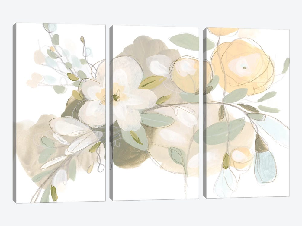Planifolia II by June Erica Vess 3-piece Canvas Wall Art