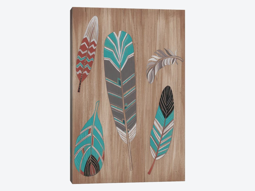 Driftwood Feathers I by June Erica Vess 1-piece Canvas Print
