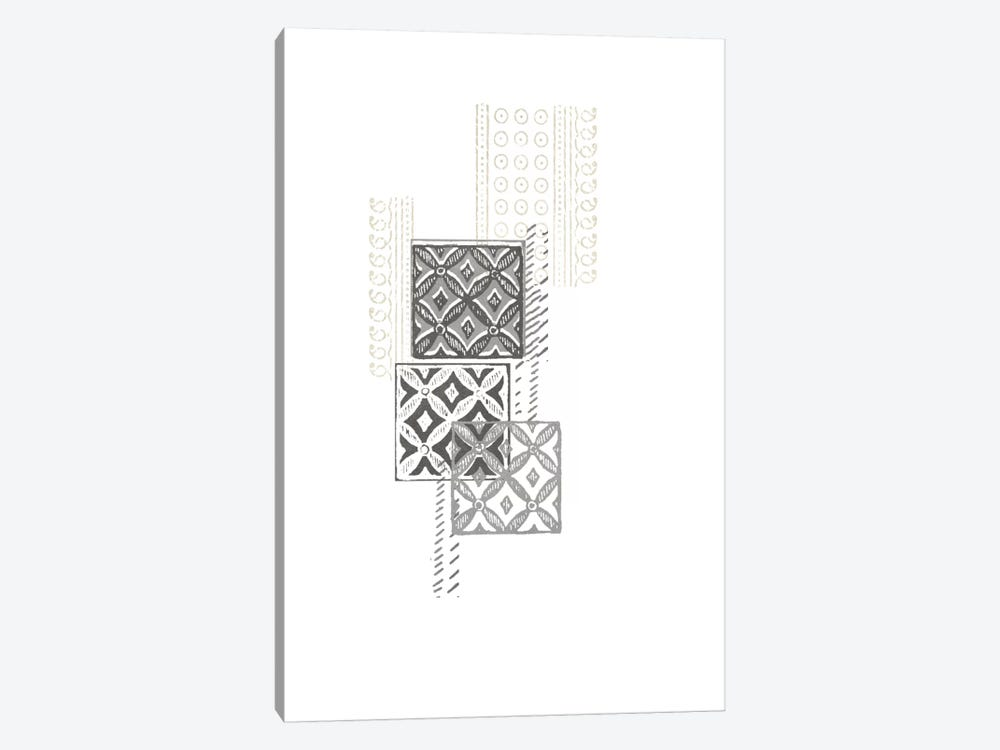 Block Print Composition II by June Erica Vess 1-piece Canvas Wall Art
