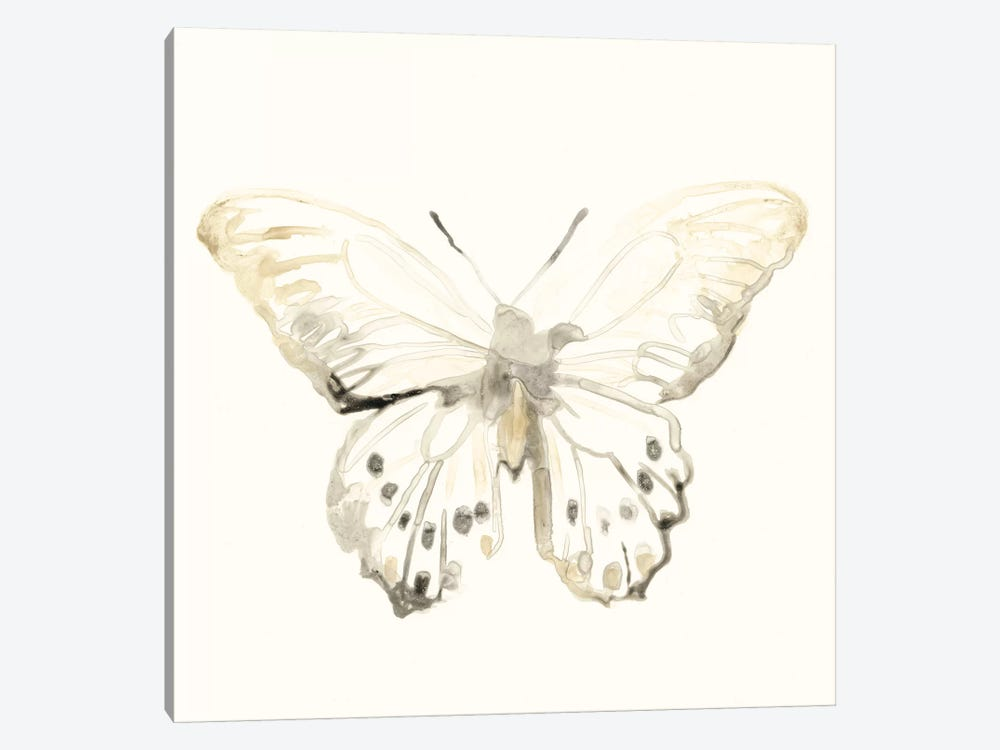 Sepia Butterfly Impressions II by June Erica Vess 1-piece Art Print