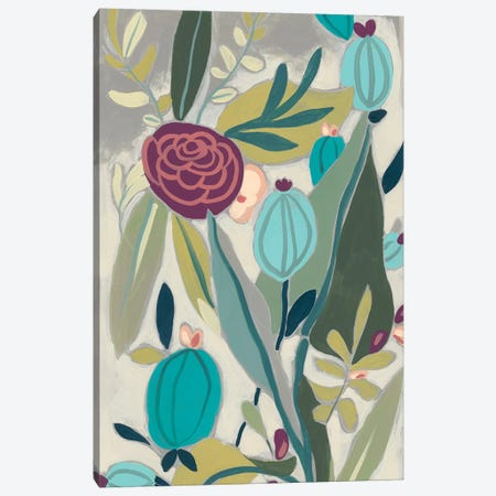 Tropicana Panel I Canvas Print #JEV857} by June Erica Vess Canvas Artwork