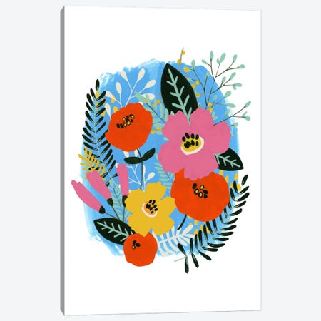 Bouquet Brights I Canvas Print #JEV85} by June Erica Vess Canvas Print