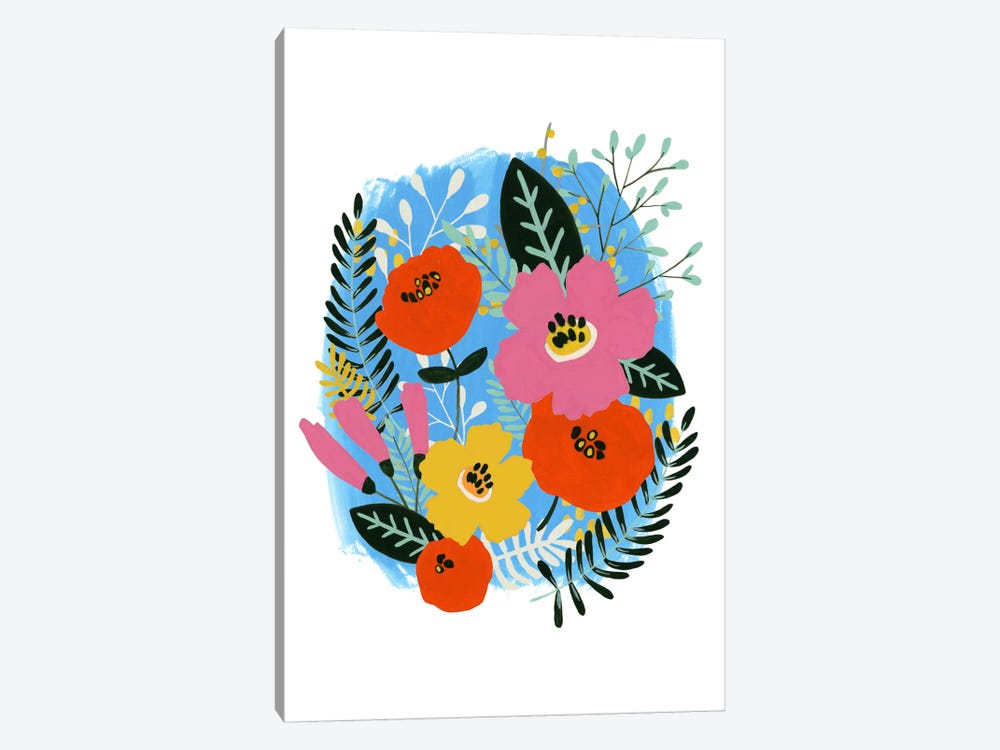 Bouquet Brights I by June Erica Vess 1-piece Canvas Print