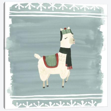Winter Wonder Llama I Canvas Print #JEV879} by June Erica Vess Canvas Print