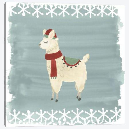 Winter Wonder Llama II Canvas Print #JEV880} by June Erica Vess Canvas Wall Art