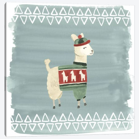 Winter Wonder Llama III Canvas Print #JEV881} by June Erica Vess Canvas Art