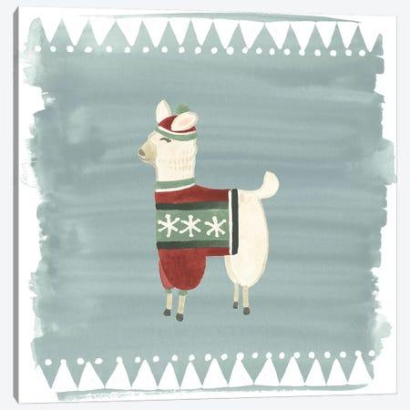 Winter Wonder Llama IV Canvas Print #JEV882} by June Erica Vess Canvas Art