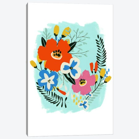 Bouquet Brights IV Canvas Print #JEV88} by June Erica Vess Canvas Art