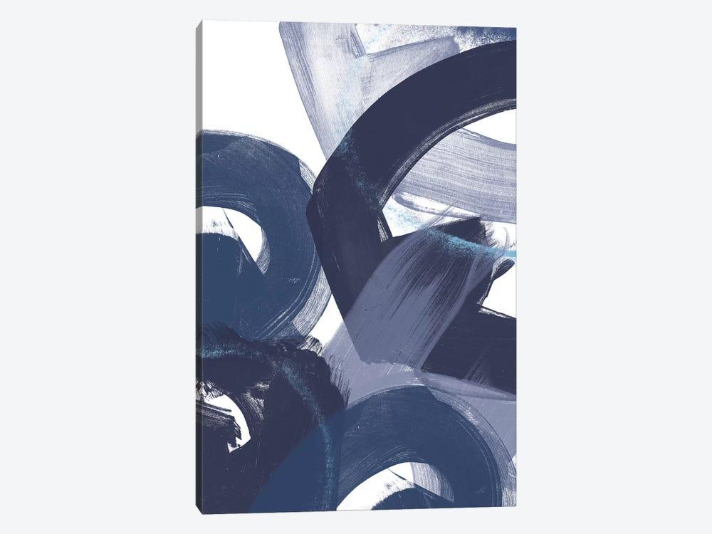 Blue On Blue II by June Erica Vess 1-piece Canvas Artwork