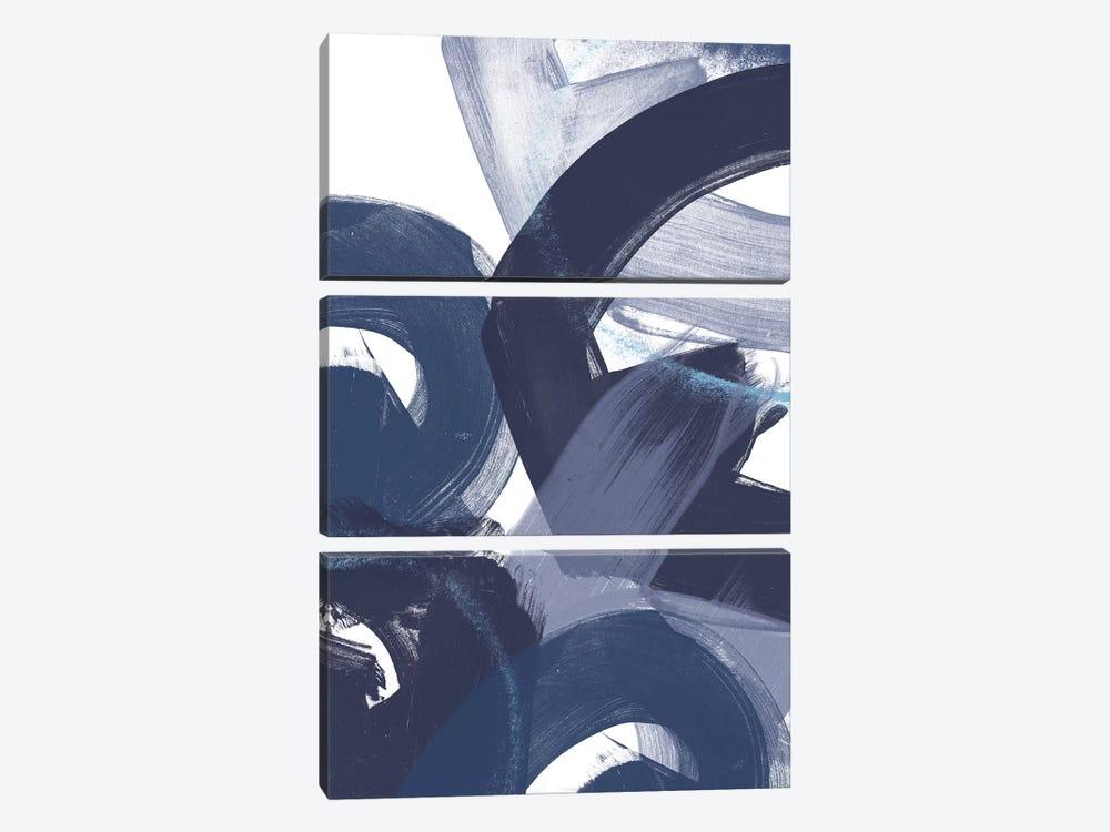 Blue On Blue II by June Erica Vess 3-piece Canvas Art