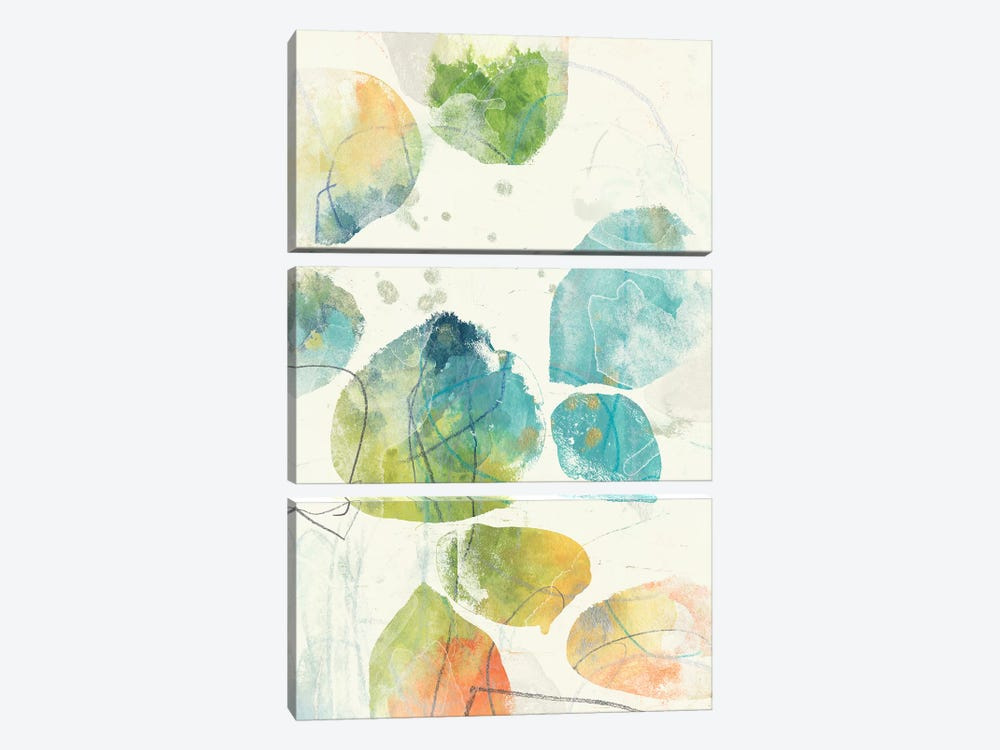Color Motion IV by June Erica Vess 3-piece Canvas Art