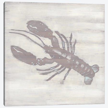 Seaside Postcard On Cream Lobster Canvas Art By Fab Funky Icanvas