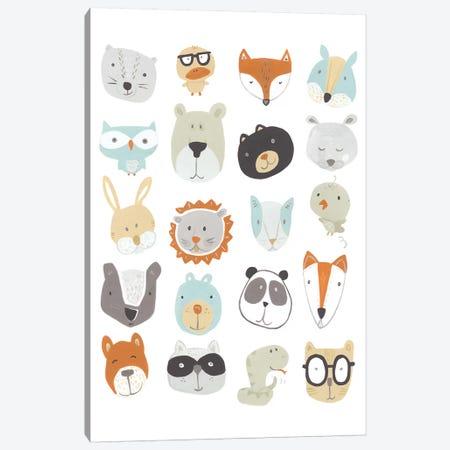 Friendly Faces Canvas Print #JEV916} by June Erica Vess Canvas Print